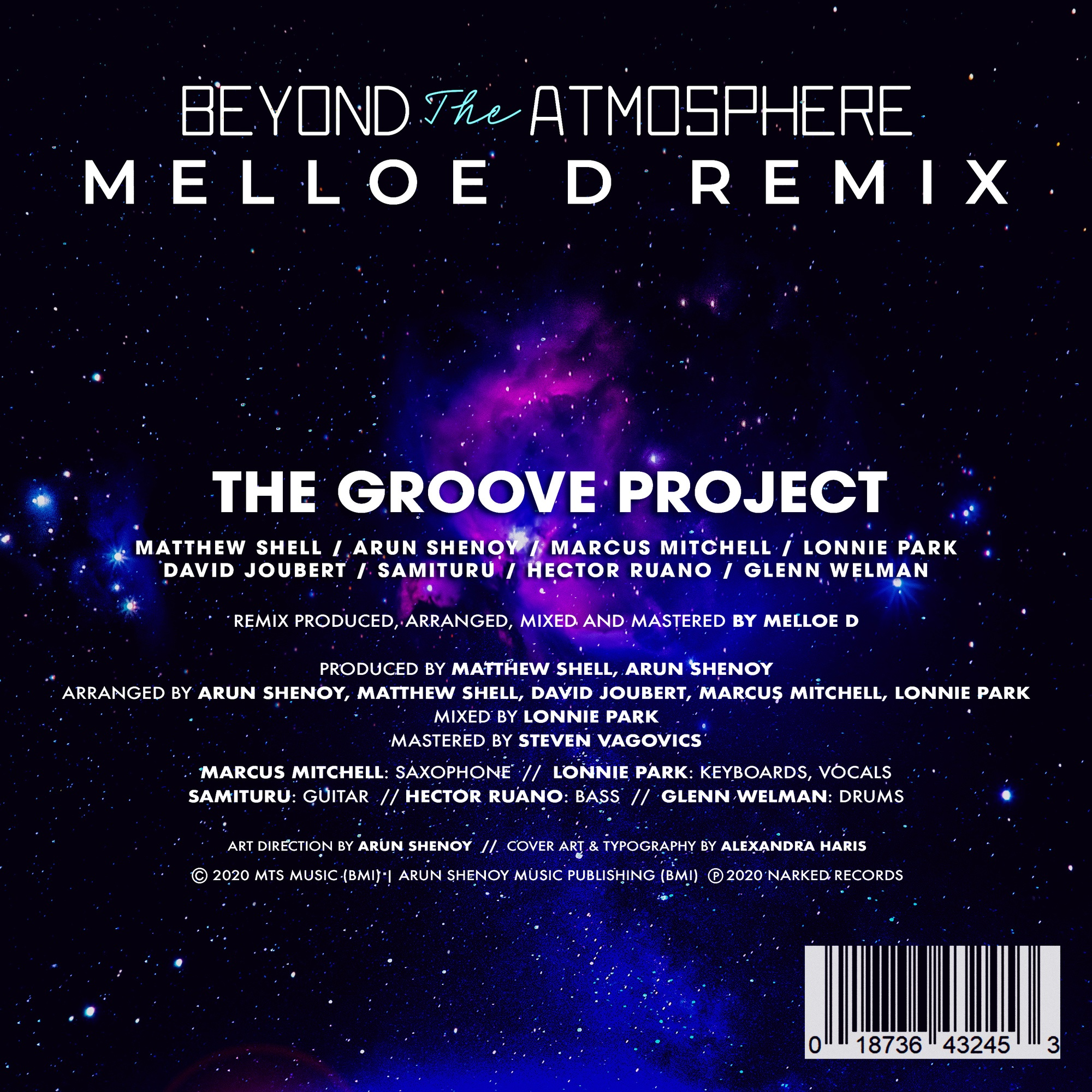 Beyond the Atmosphere Melloe D Remix- Credits Sheet