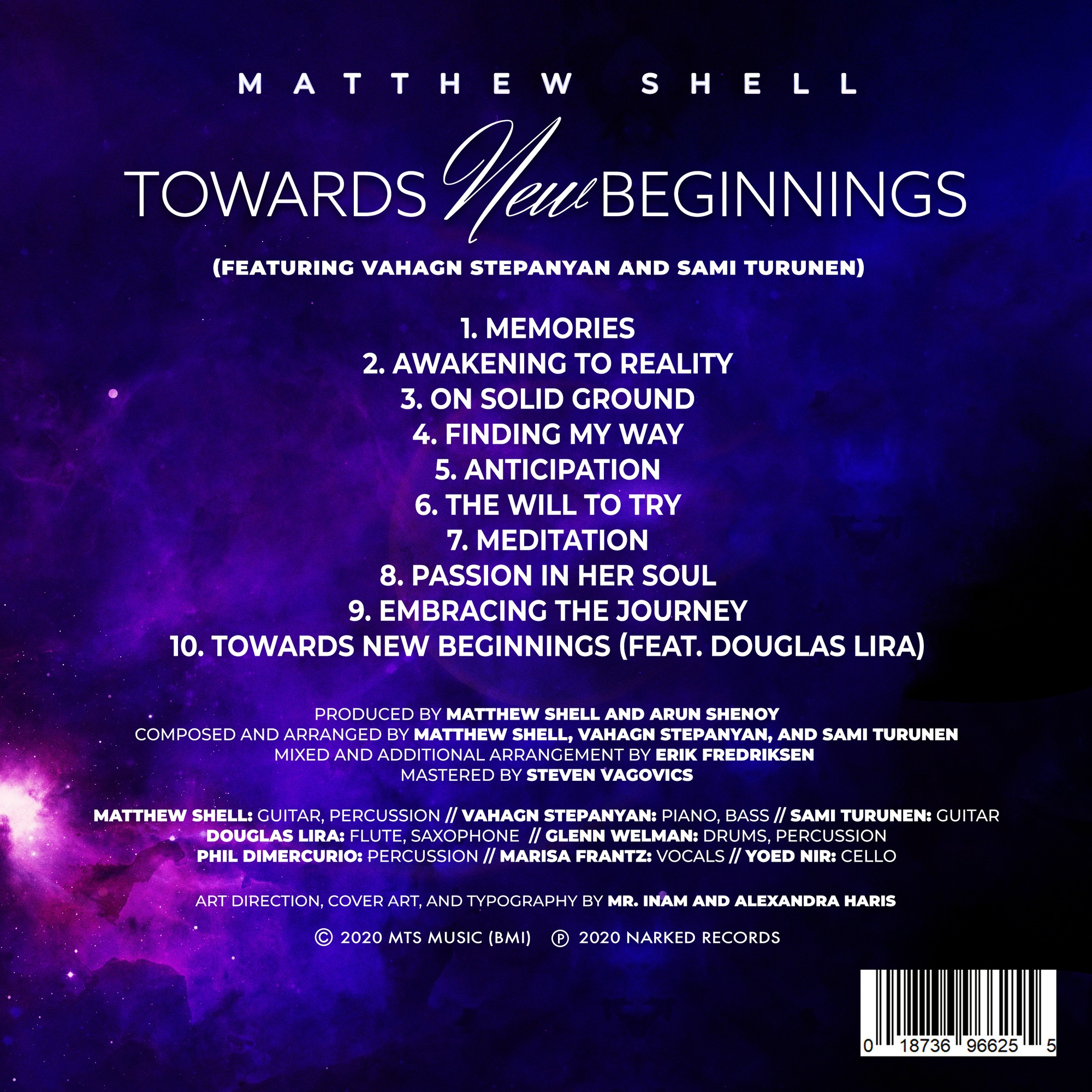 Towards New Beginnings- Credits Sheet