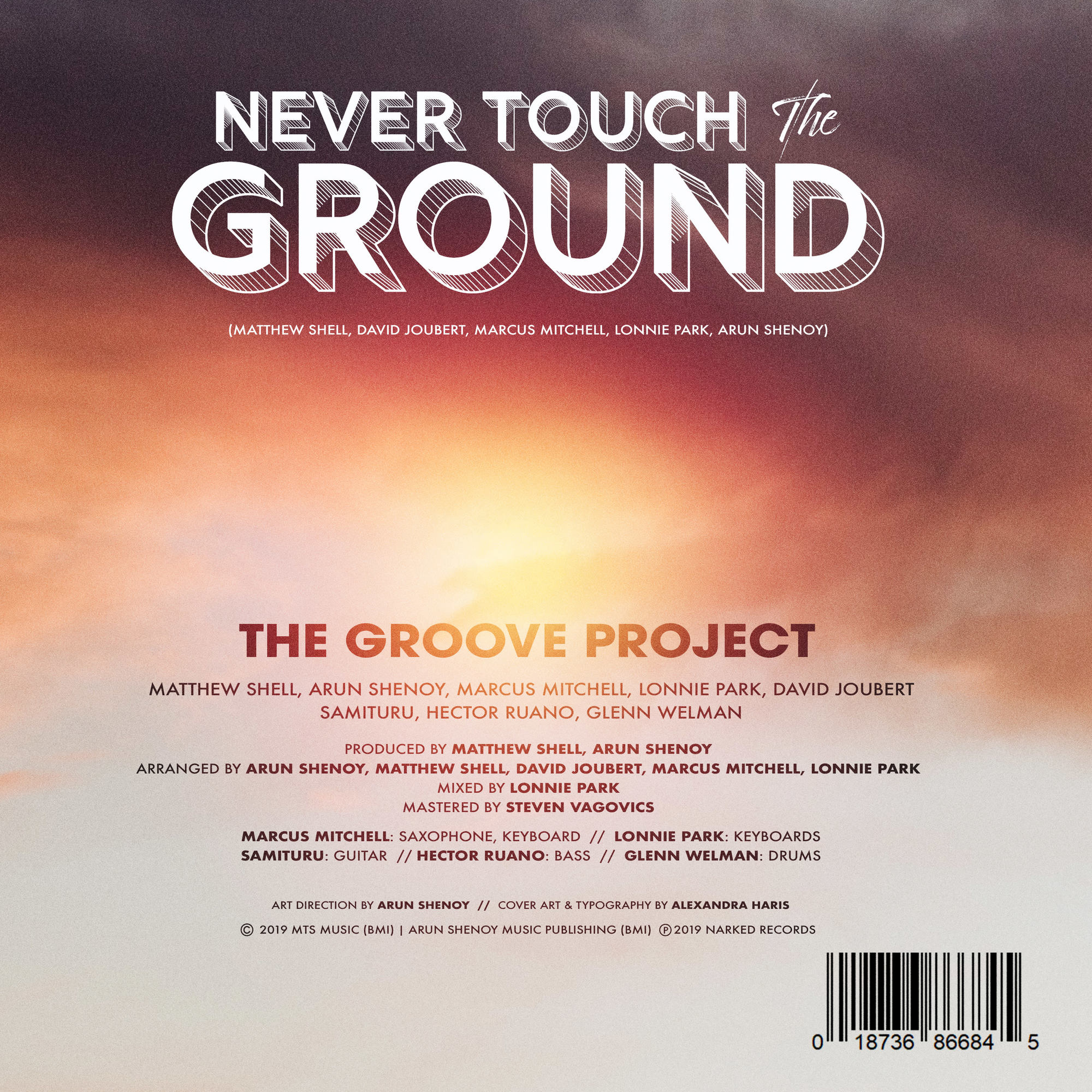 Never Touch the Ground - Credits Sheet