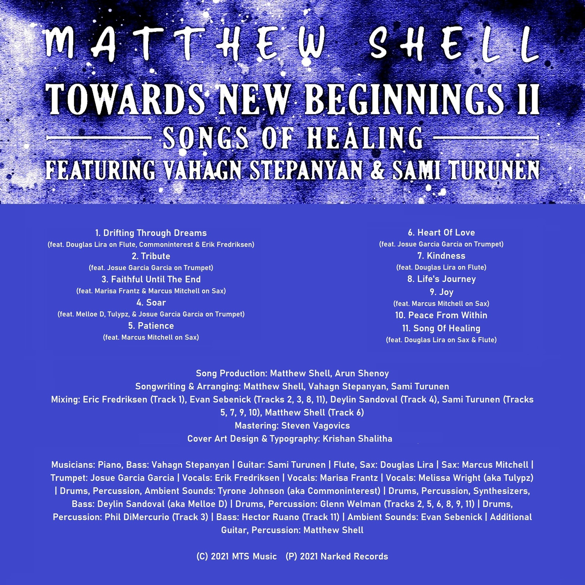 Towards New Beginnings II - Credits Sheet
