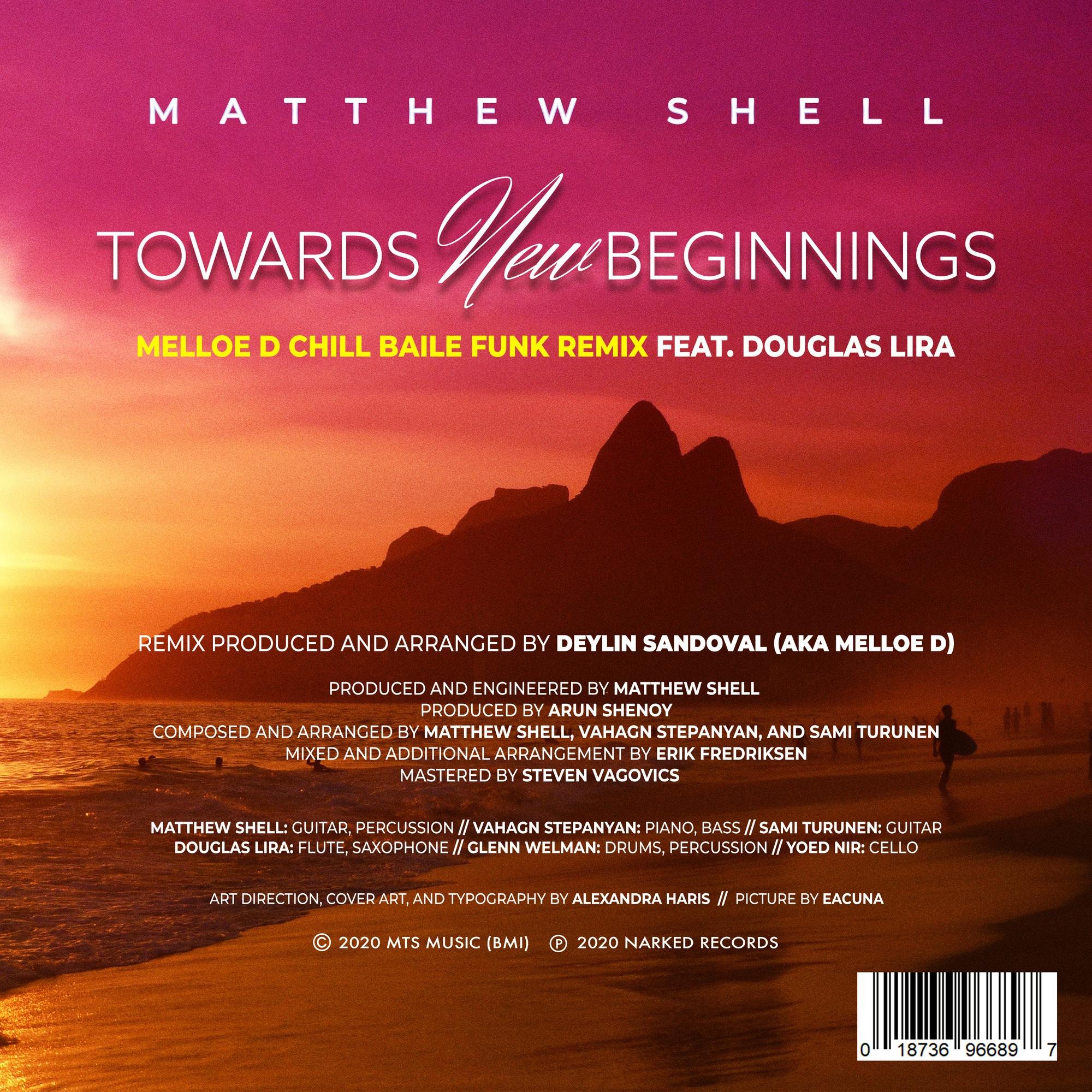 Towards New Beginnings Melloe D Remix- Credits Sheet
