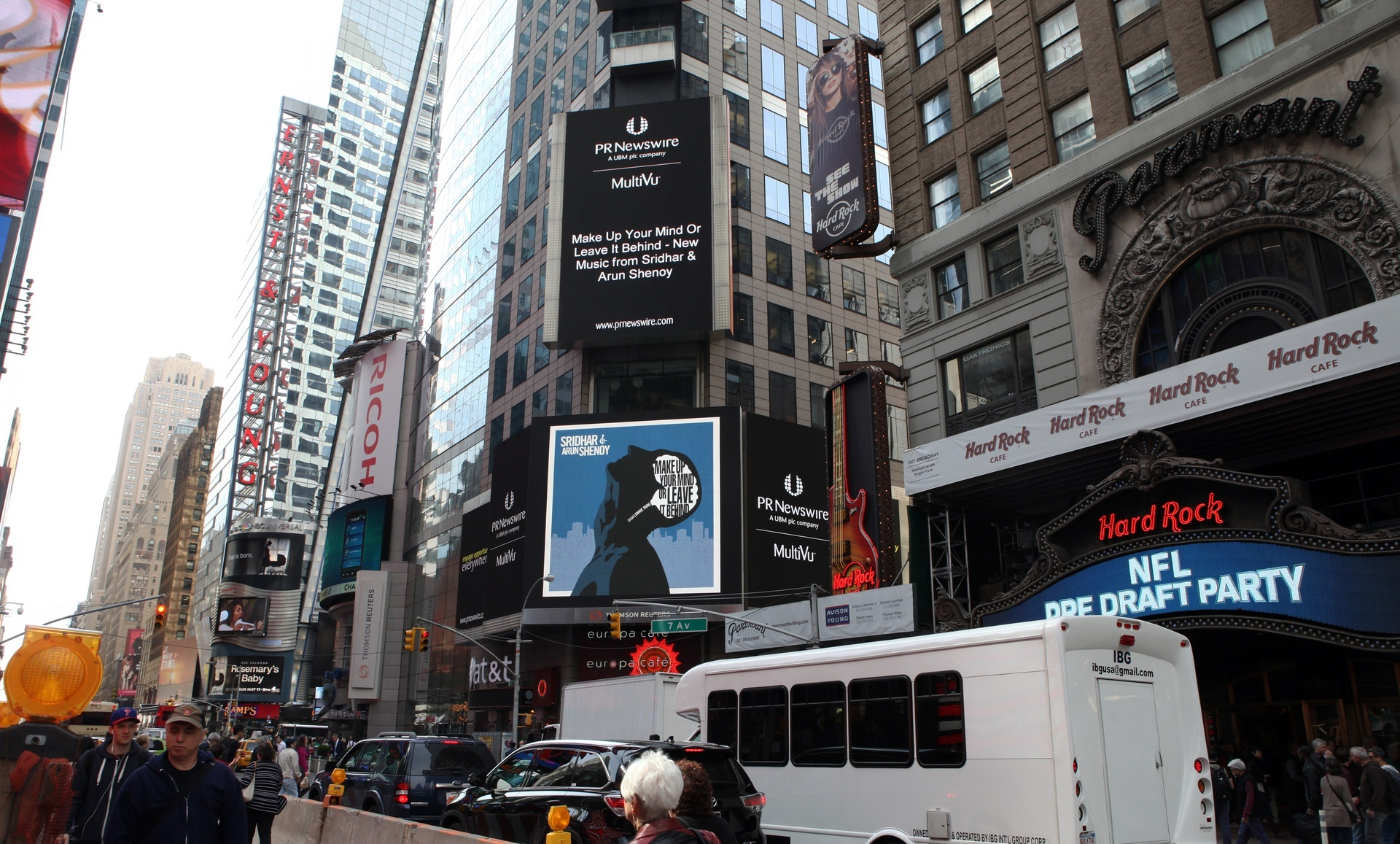 Single Launch at Times Square NYC